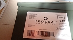 Federal XM855LC1  420 rounds 5.56 Nato 223 62gr on stripper clips in ammo can