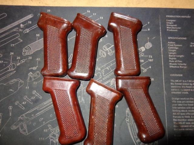 Original AKM Polish Bakelite Ak-47 pistol grip Darker color