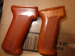 Polish Bakelite AK pistol Grip Orangish/Red color very good