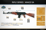 Rock Island Armory AK 47/22 22lr semi automatic wood stock 10 rd magazine