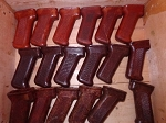 3 Polish AKM Bakelite Pistol grips Variety pack. One each of 3 colors