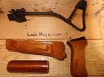 Polish AK Side folding stock with Beautiful laminated wood handguards and pistol grip