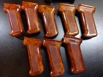 Beautiful Polish Bakelite AKM Pistol grip in Verygood condition condition. Orangish Redish brown