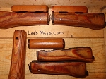 Nice Romanian AK Laminated wood Handguard Set with stain & poly finish