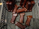 Cool  Cherry Redish BrownPolish Bakelite AK grip restored Gloss Clearcoat finish