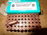 500 rounds Russian  Makarv 9X18 ammunition