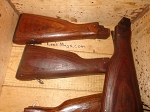 Romanian wood AK stock fair  overall condition battlefield pick ups