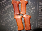 100 Pack Polish Bakelite AK Pistol Grips Red