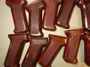 Dark Colored Bakelite Polish AK pistol grip