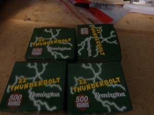 Remington Thunderbolts 2,000 Rounds 22lr High Velocity round nose 40gr