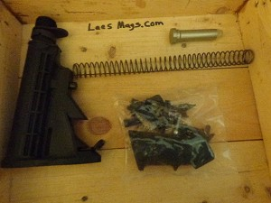 Del-ton AR-15 Lower build kit  Lower parts kit and adjustable stock W/spring ,gas tube, & Buffer . Black